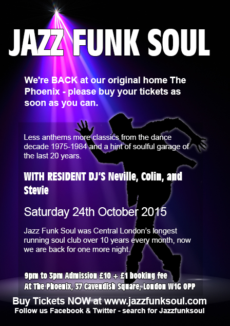 JAZZ FUNK SOUL REUNION TICKETS